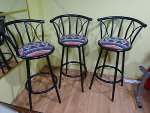 Swivel bar chairs / stools, bar height, like new - best offer.