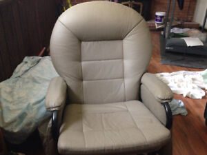 Glider chair with foot rest