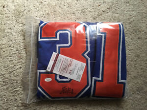Signed Grant Fuhr Oilers jersey