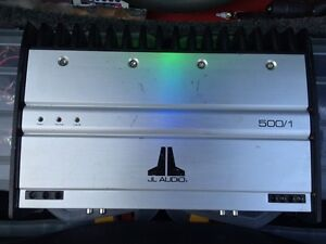 JL audio 500/1 monoblock subwoofer amplifier