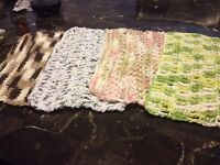 Knitted dishcloths - $4