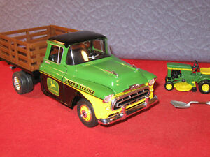 John Deere Sales & Service 1957 Chevy Pickup With 70 Lawn Mower