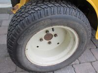TIRES & RIMS 4 LAWN GARDEN TRACTOR RIDING LAWNMOWER MOWER