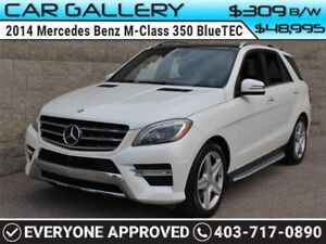 2014 Mercedes Benz M-Class 350 BlueTEC DIESEL w/Leather, Sunroof