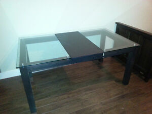 Dining Table (wood and glass)