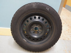4 x 17 inch Goodyear Nordic Winter Tires & Rims