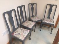 Set of 4 Newly Upholstered Dining Chairs