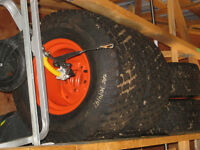 Kubota BX25 Tractor Turf Tire Set (4 tires and rims)
