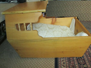PRICE DROP! Vintage Hand Made~STURDY~Baby Crib--Heirloom Piece