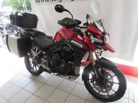 TRIUMPH TIGER 1200 EXPLORER, 65 REG WITH 3 BOX LUGGAGE, HEATED GRIPS, FOG LAMPS