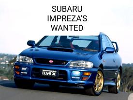 WANTED SUBARU IMPREZA'S WRX STI UK TURBO 2000 CLASSIC BLOBEYE 1992