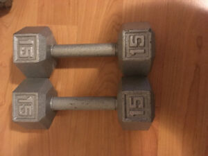15 pound Steel weights $45 a set of two weights both sets for$80