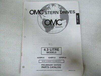 1997 OMC Stern Drives 4.3 Liter Prelim Edition Parts Catalog Manual P/N 988224