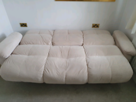 FREE to collect - Cream sofa bed