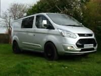 2015 FORD TRANSIT CUSTOM LWB CREW CAB TREND/LIMITED/DOUBLE CAB L2 **NO VAT**
