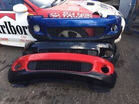 Bmw mini cooper s works bumper xenon headlights wing bonnet