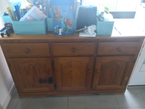 Oak Buffet table/console $80