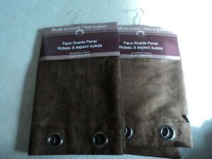 **NEW** Faux Suede Window Panels with Grommets