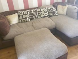 Corner sofa left hand and foot rest