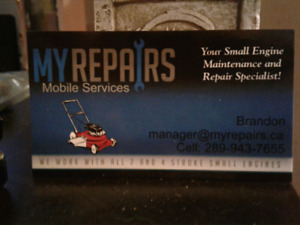 Lawnmower won't start? Needs repairs? Call us we come to You!