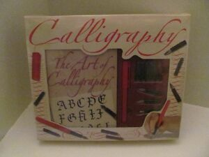 BRAND NEW IN PLASTIC CALLIGRAPHY KIT