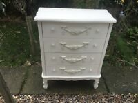 French cream painted chest drawers