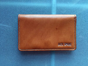 Jack Spade Mitchell Leather Business Card Wallet