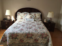 Mahogany Bedroom Set, excellent condition - New price of $600.00