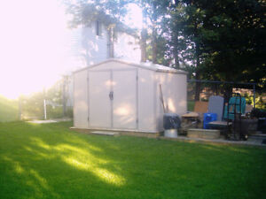Doubled walled vinyl 8X10 ft heavy dudy shed.