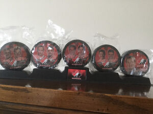McDonald's Canadian Olympic Team Hockey Puck Collection