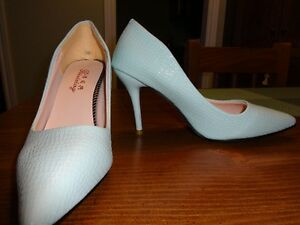 Light blue shoes