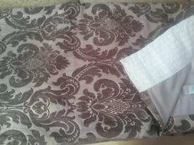 Silver Grey WILLIAM MORRIS curtains 90inW x 90inL