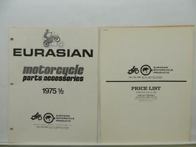 1975 Eurasian Motorcycle Parts And Accessories Price List Yamaha Honda L11574