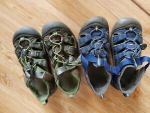 2 pairs size 3, Keens boy's sandals