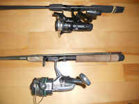 Canne moulinets Shimano, Shakes, 25$ chaques, Fishing rod reel