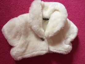Baby fur shrug