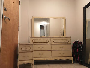Antique looking dresser & night table for sale