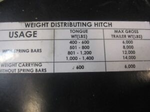 trailer weight distributing hitch