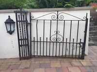 Wrought iron entrance gate picture only shows one but there is two of them