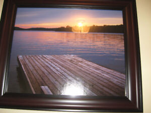 """""""beautiful water picture size 20 1/2 x 25 in excellent conditi"""
