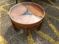 Beautiful Mid Century Glazed Coffee Table by Nathan