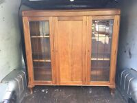 SOLID WOOD CHINA CABINET SHABBY CHIC PROJECT ** FREE DELIVERY AVAILABLE **
