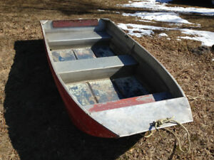 Nine foot aluminum flat bottom boat