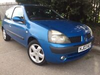 2003 Renault Clio 1.2 New M.O.T