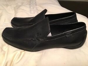 Brand new black Lacoste leather loafers