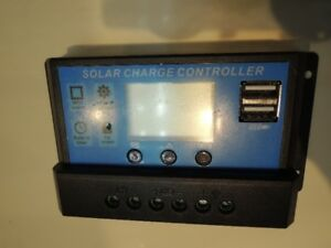 Solar Panel Charge Controller  12 or 24 Volt DC 30 Amp