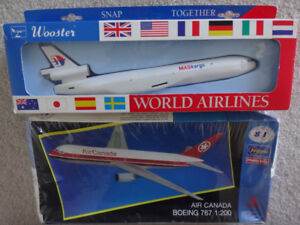 Wooster and Hasegawa Airliners Plastic Model Kits NEW