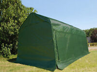 Dancover portable temporary garage green heavy duty PVC