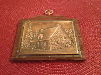 Plaque - Handcrafted Copper Quebecois Style Chalet