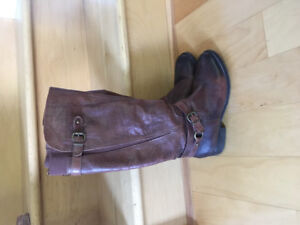 Arturo Chang brown  leather knee high boots. Size 8.5